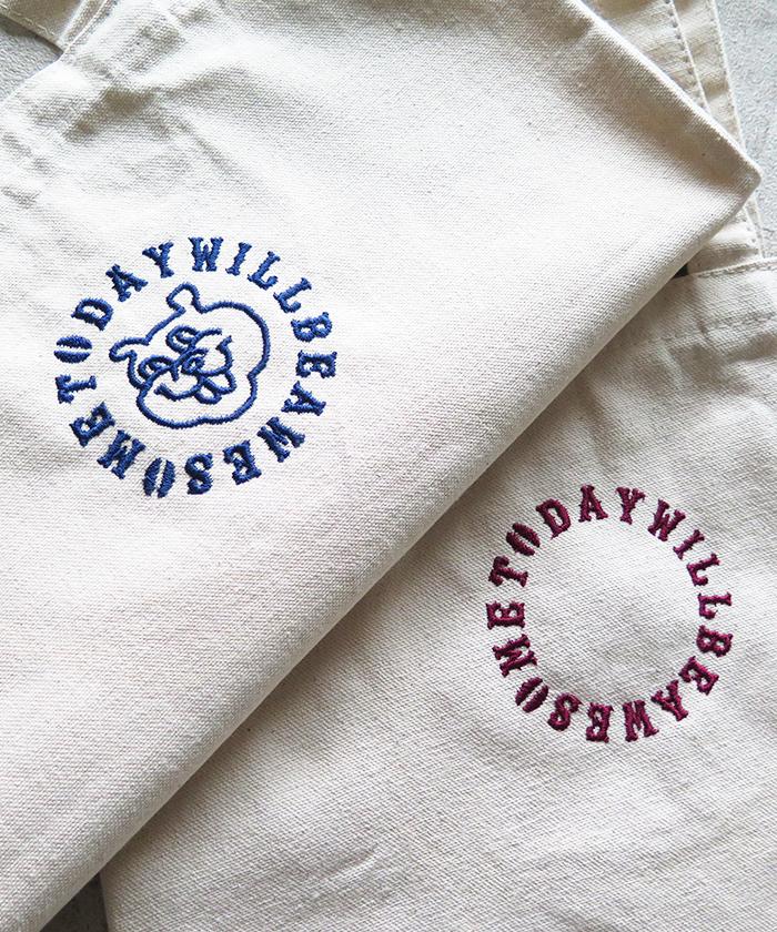 ストロールガレージ 刺繍バッグ コーヒーグッズ 古着風 カレッジ風 コーヒー好き