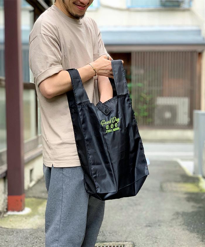 ストロールガレージ メンズ エコバッグ 男が持ちやすいエコバッグ マルシェバッグ コンビニ袋 レジ袋有料化