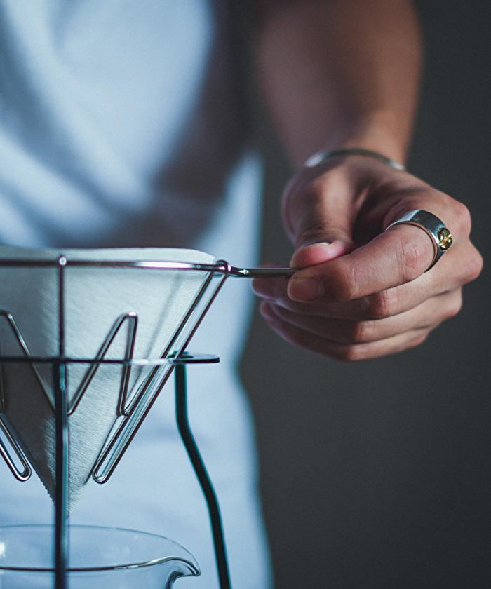ストロールガレージ コーヒー豆のリング シルバーアクセ メンズアクセ メンズリング コーヒー好き