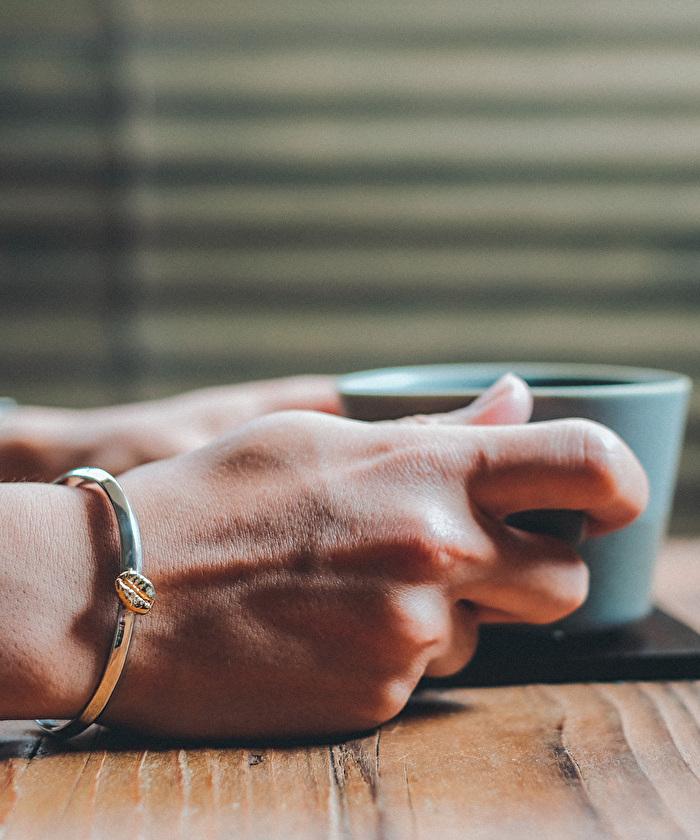 ストロールガレージ 珈琲豆 バングル シルバーアクセ ブレスレット コーヒー好き