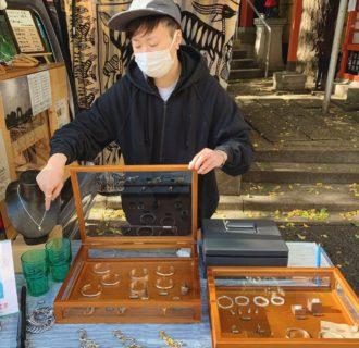 ストロールガレージ ポップアップ 五柱五成神社 中野 ビーンズジュエリー 珈琲豆のアクセサリー